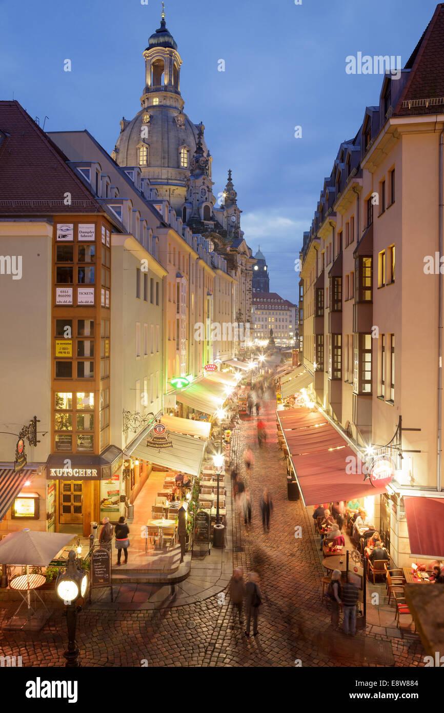 Muenzgasse Dresden Sachsen Deutschland Stockfoto Bild 74314020