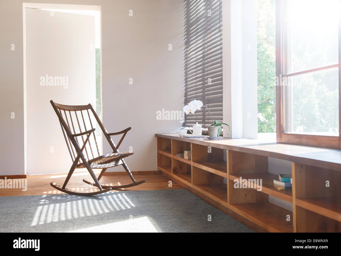 Bezaubernd Schlafzimmer Teppich Dekoration Von Schaukelstuhl Und In Modernen