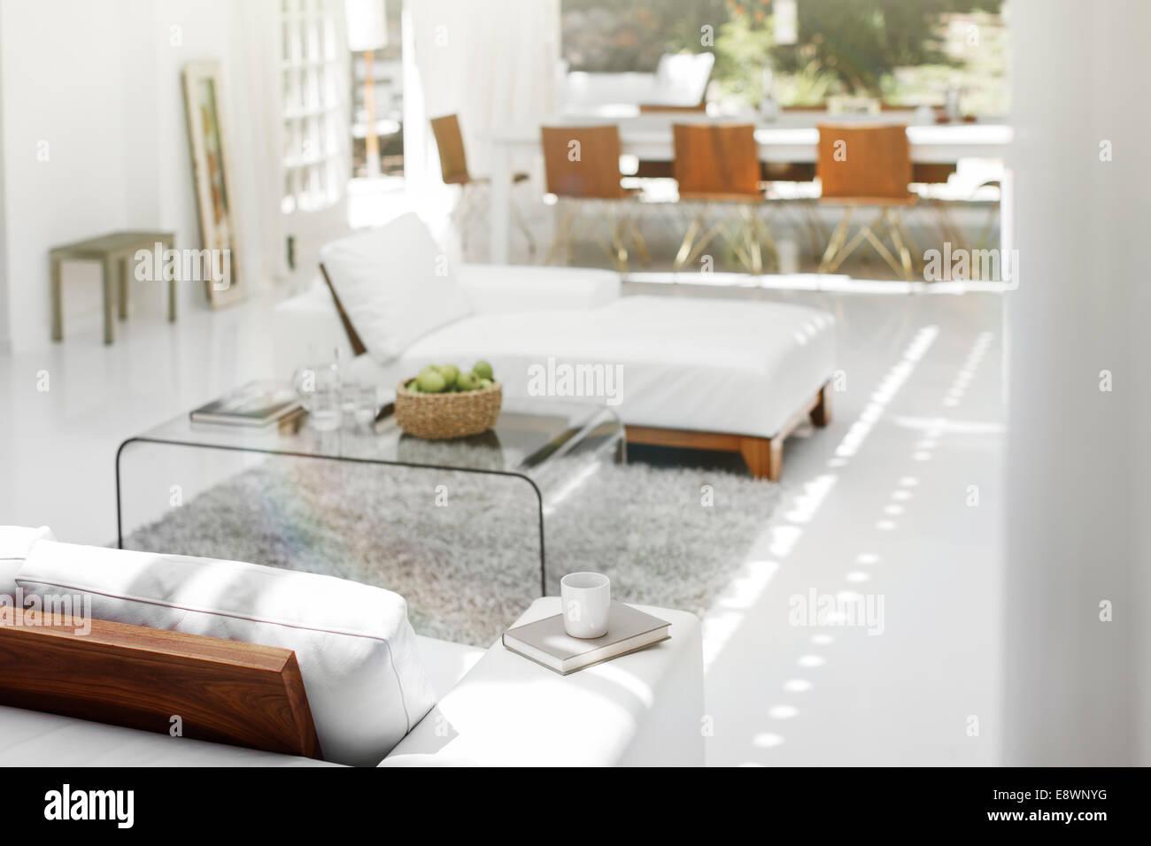 Sofas, Couchtisch und Teppich in moderne Wohnzimmer ...