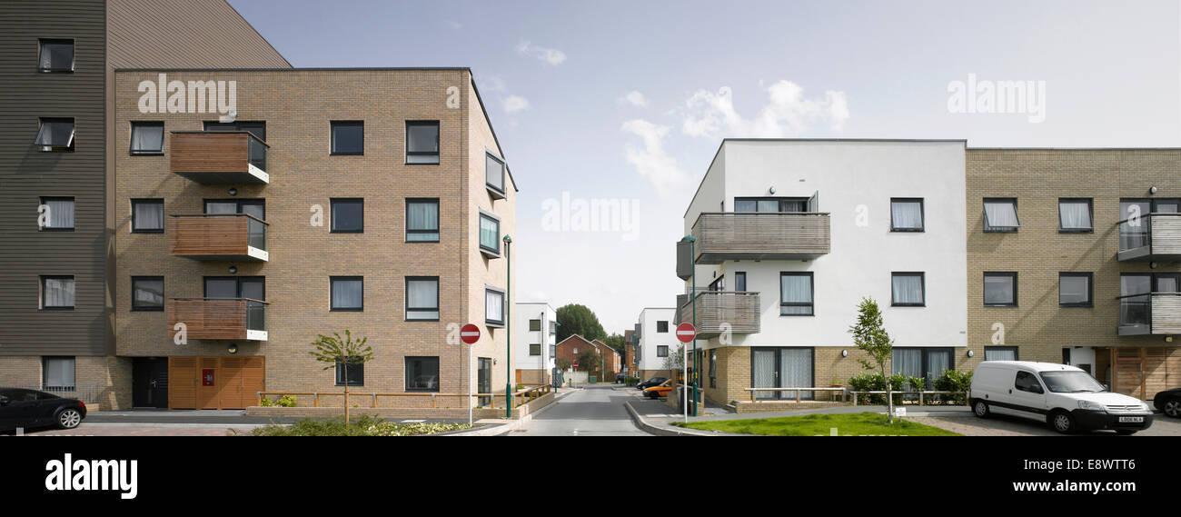 Durand schließen Estate, Affinität Gehäuse, Sutton. Stockbild