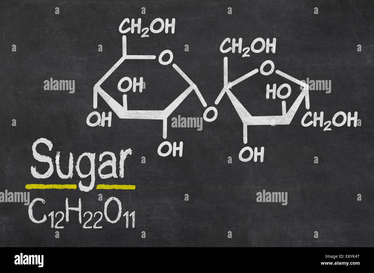 Tafel Mit Der Chemischen Formel Von Zucker Stockfoto Bild
