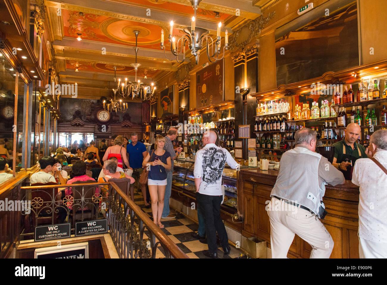 portugal lissabon baixa chiado rua garrett jugendstil deco bar restaurant brasserie 20er caf. Black Bedroom Furniture Sets. Home Design Ideas