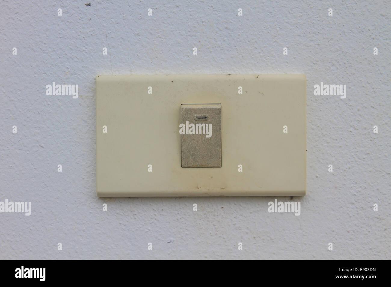 plaster light switch stockfotos plaster light switch bilder alamy. Black Bedroom Furniture Sets. Home Design Ideas