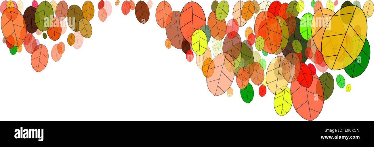 Herbstlaub Grafiken Stockbild