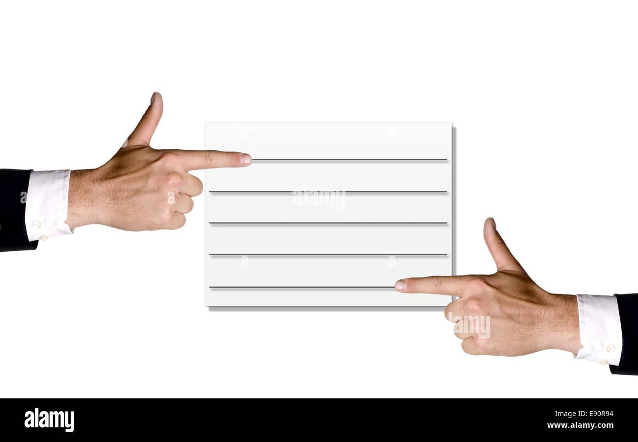 Hände und Karte Stockbild