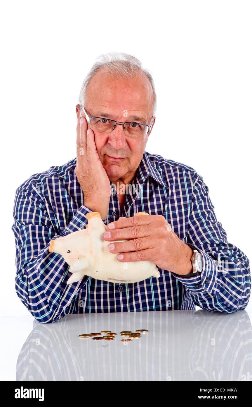 Betroffenen Rentner Stockbild