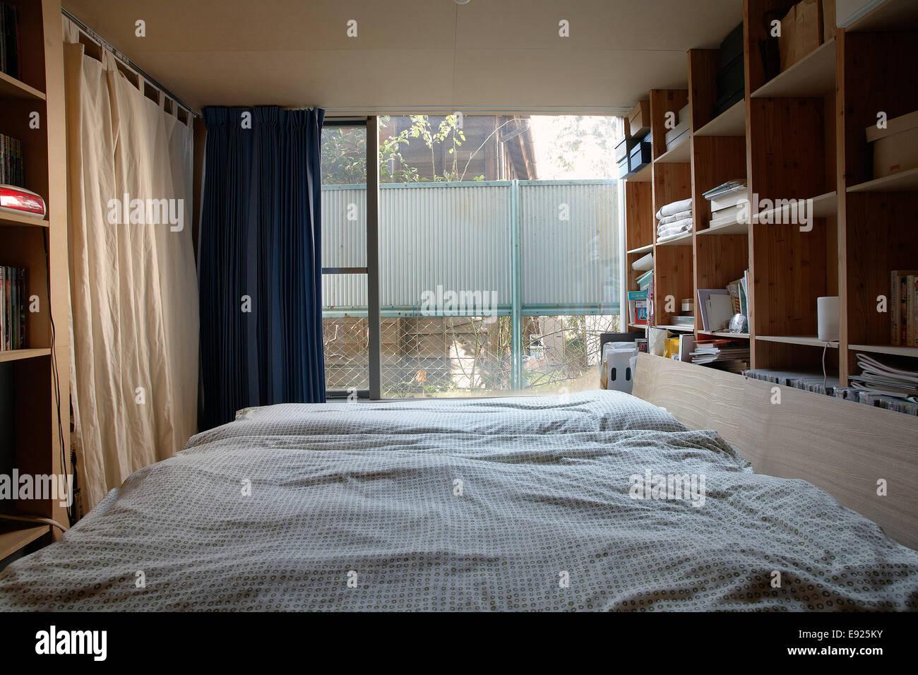 Schlafzimmer in einer japanischen moderne Wohnung Stockfoto, Bild ...
