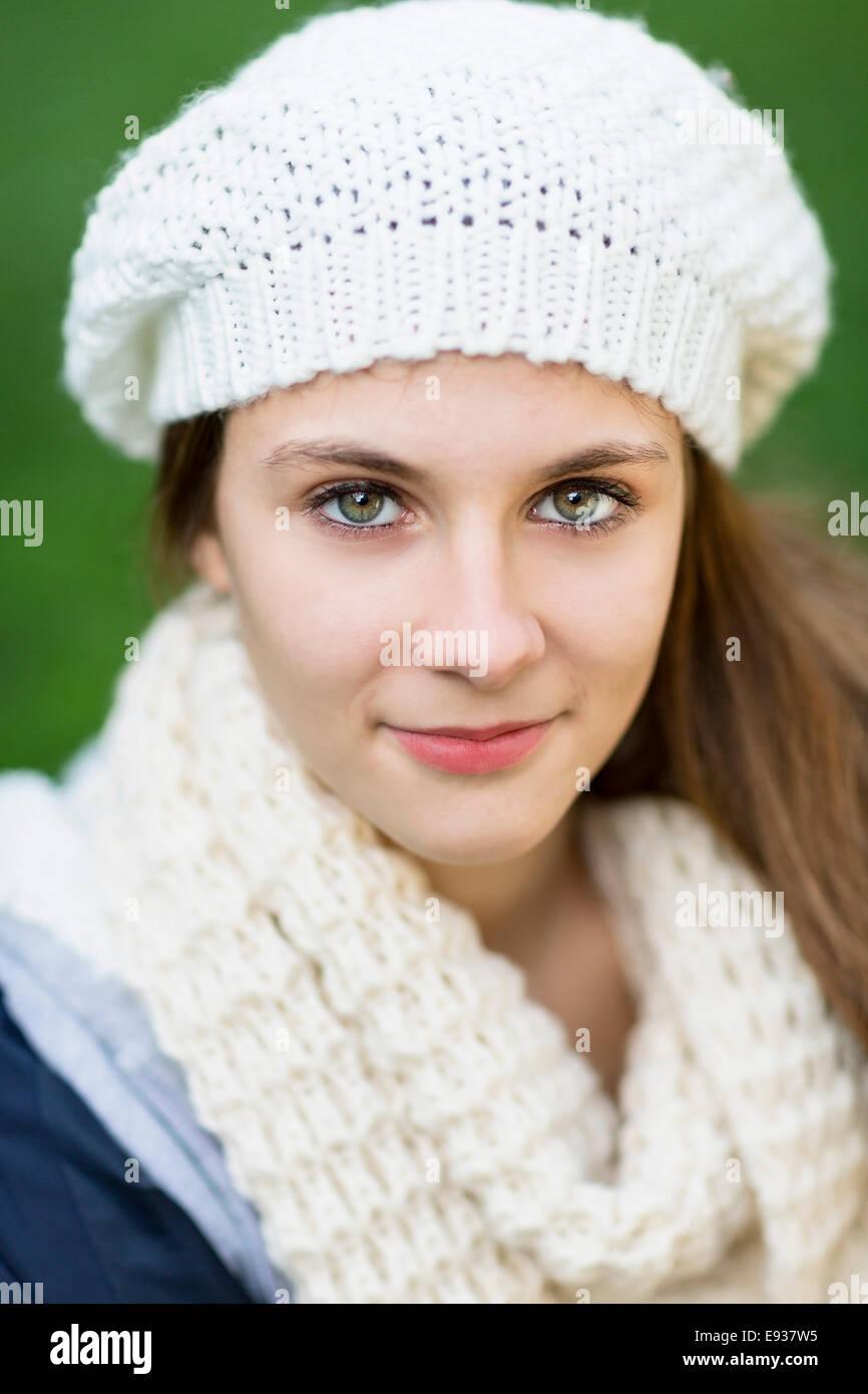 Porträt von Teenager-Mädchen Stockbild