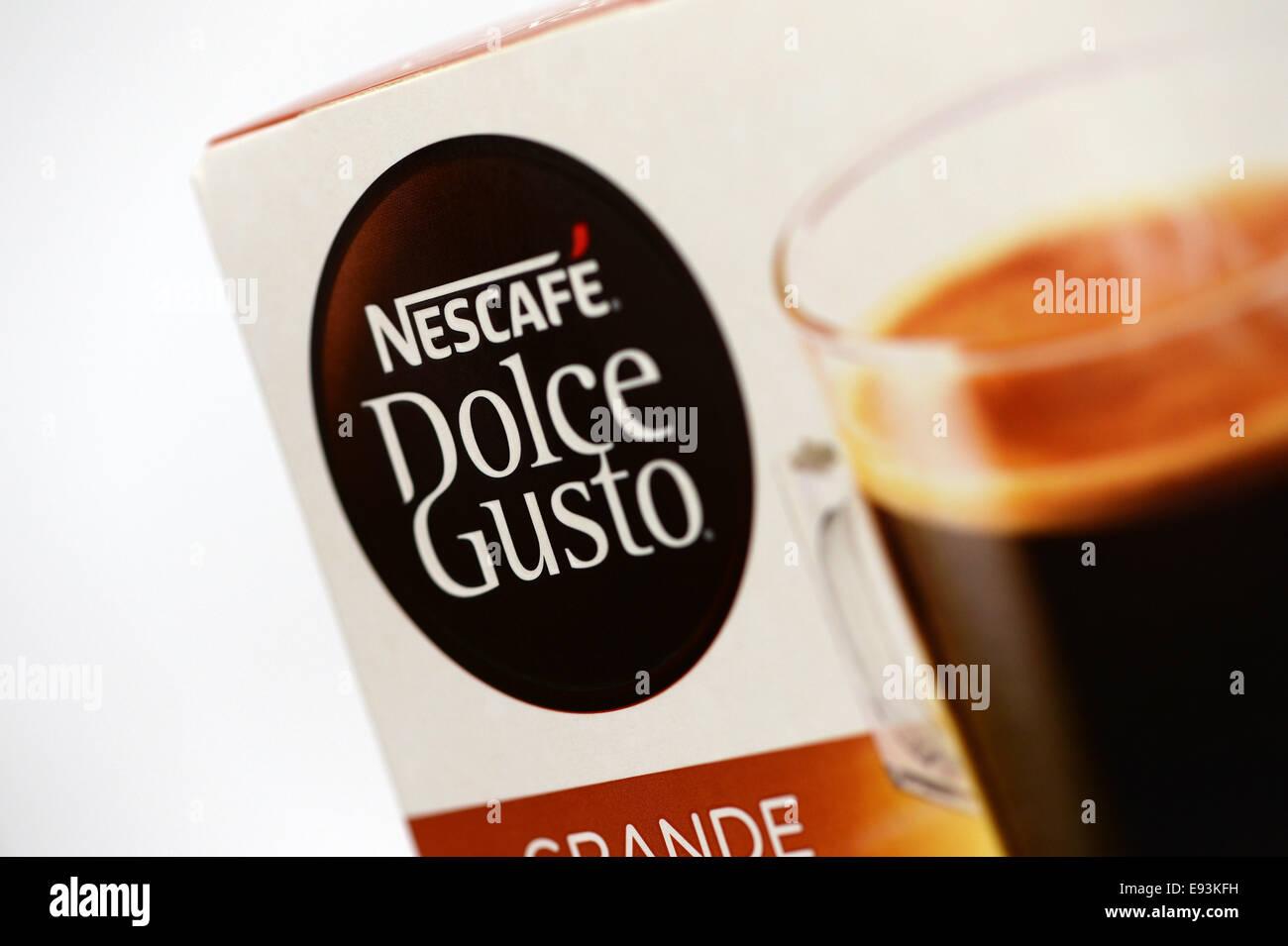 Nescafe Dolce Gusto Kaffee Pod-system Stockbild