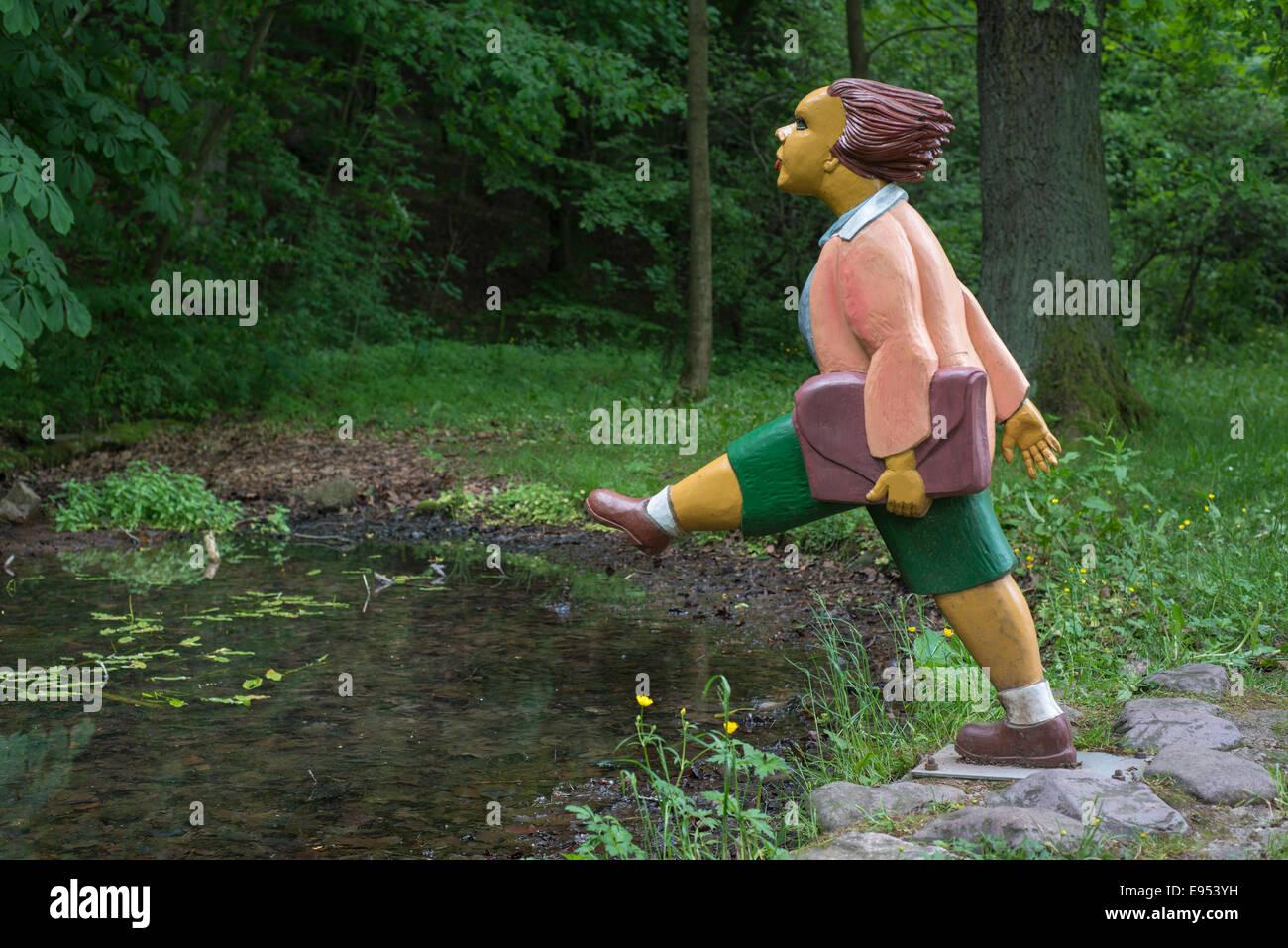 """Titelfigur von """"die Geschichte von Johnny Kopf in der Luft"""", aus dem Kinderbuch """"Struwwelpeter"""" Stockbild"""