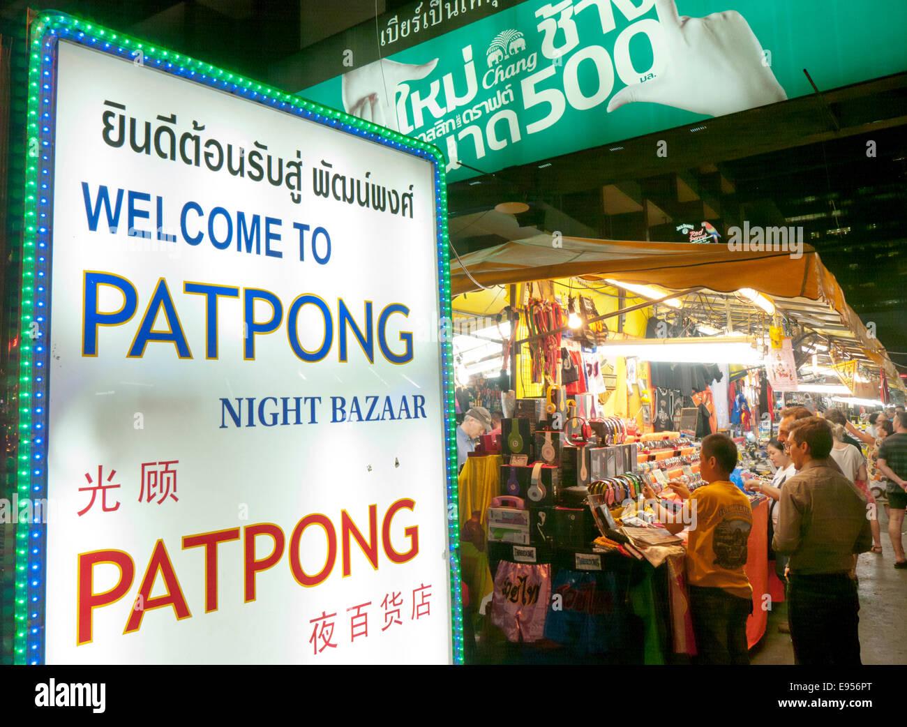 Patpong Nachtmarkt Markt in Bangkok Thailand Stockbild