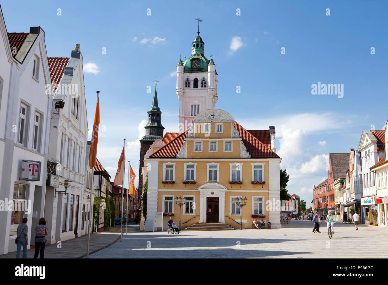 rathaus und kirche des heiligen johannes verden eine der aller niedersachsen deutschland. Black Bedroom Furniture Sets. Home Design Ideas