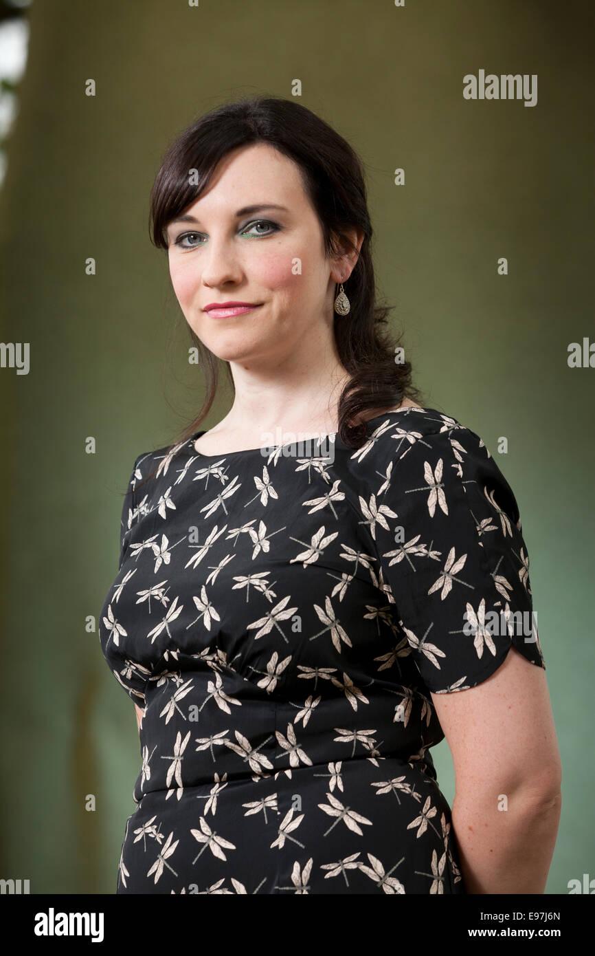 Michelle Harrison, Autor, auf dem Edinburgh International Book Festival 2014. Edinburgh, Schottland. 16. August Stockbild