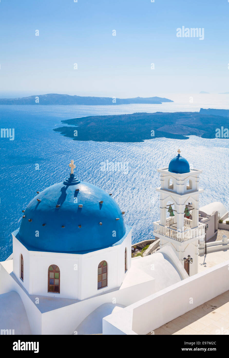 Anastasi Kirche in Imerovigli Santorini, Thira, Kykladen, griechische Inseln, Griechenland, EU, Europa Stockbild