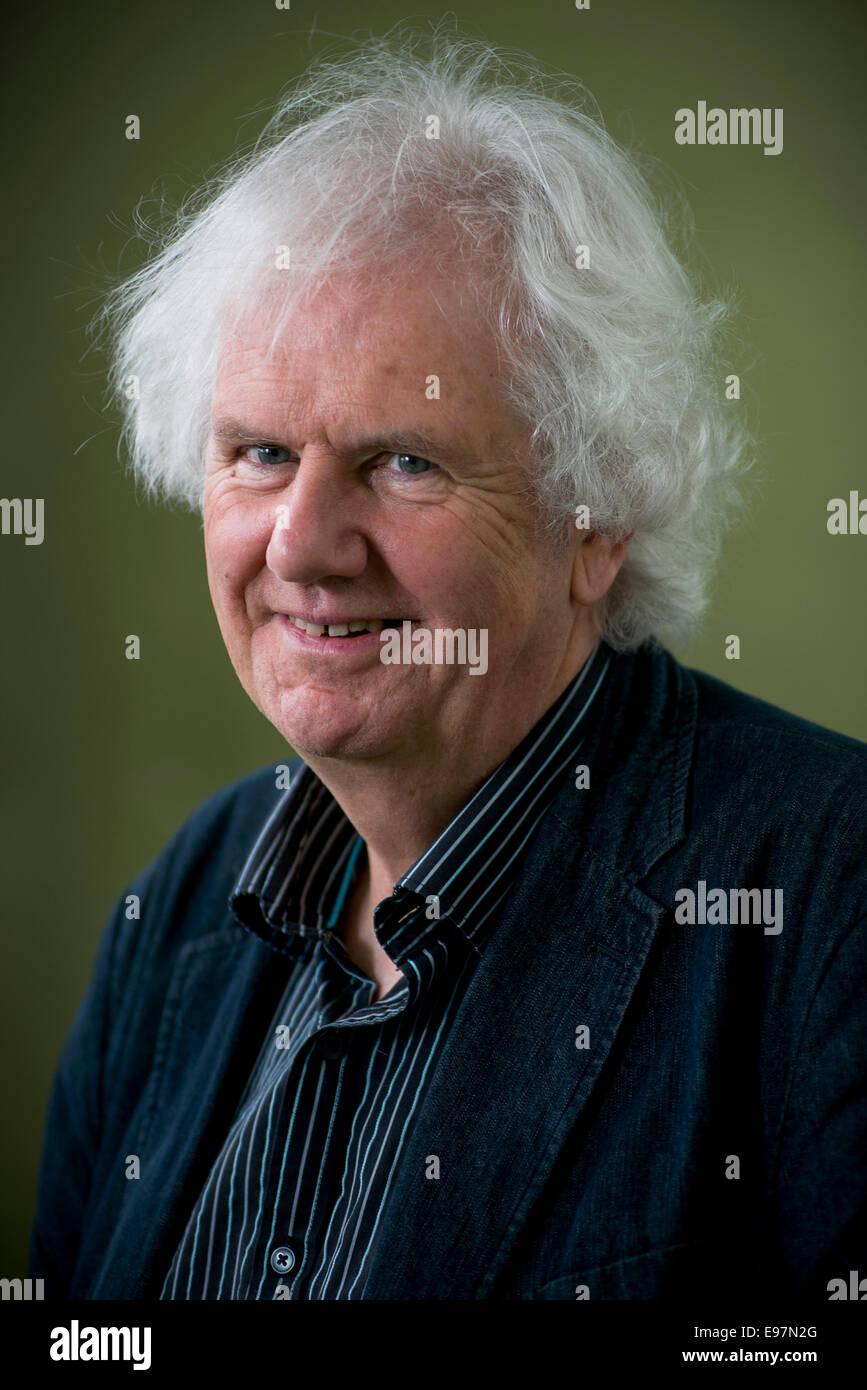 Preisgekrönte Schriftsteller Ron Butlin erscheint das Edinburgh International Book Festival. Stockfoto