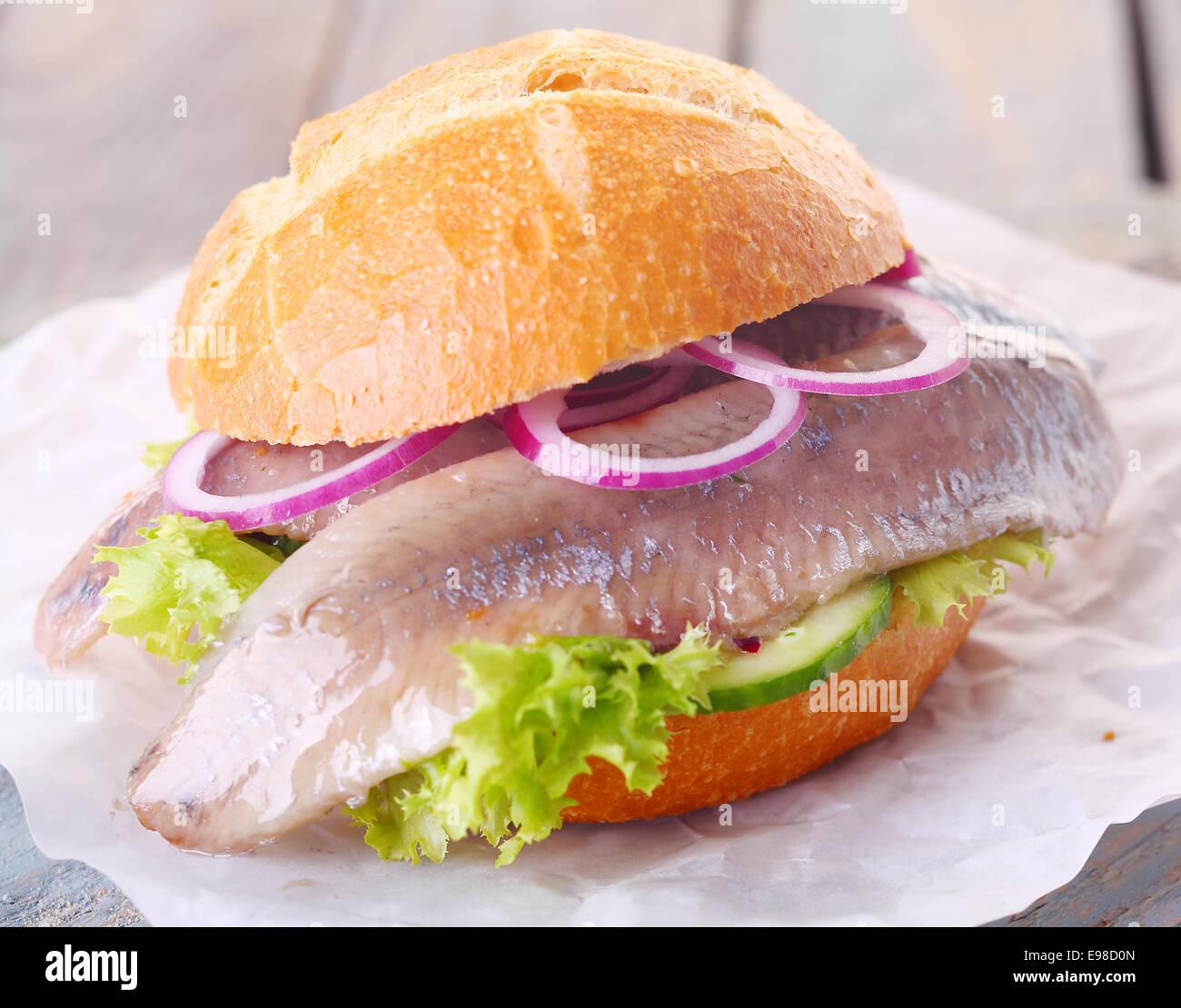 Gesunde Vegetarische Meeresfruchte Burger Mit Einem Filet Vom Kalten