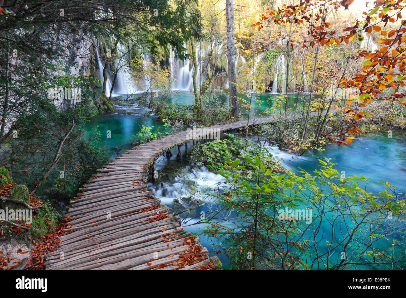 Nationalpark Plitvicer Seen, Kroatien Stockbild