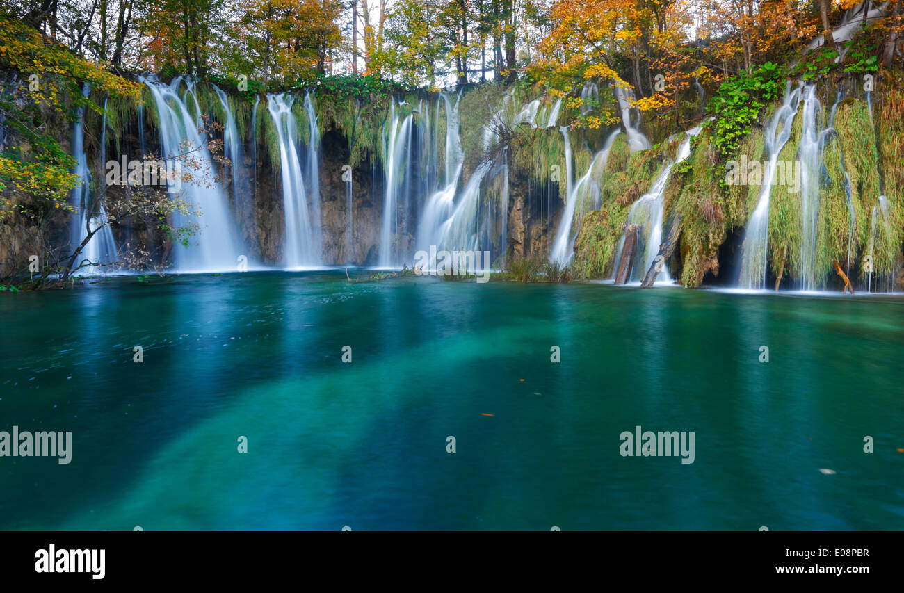 Nationalpark Plitvicer Seen, Kroatien Stockbild