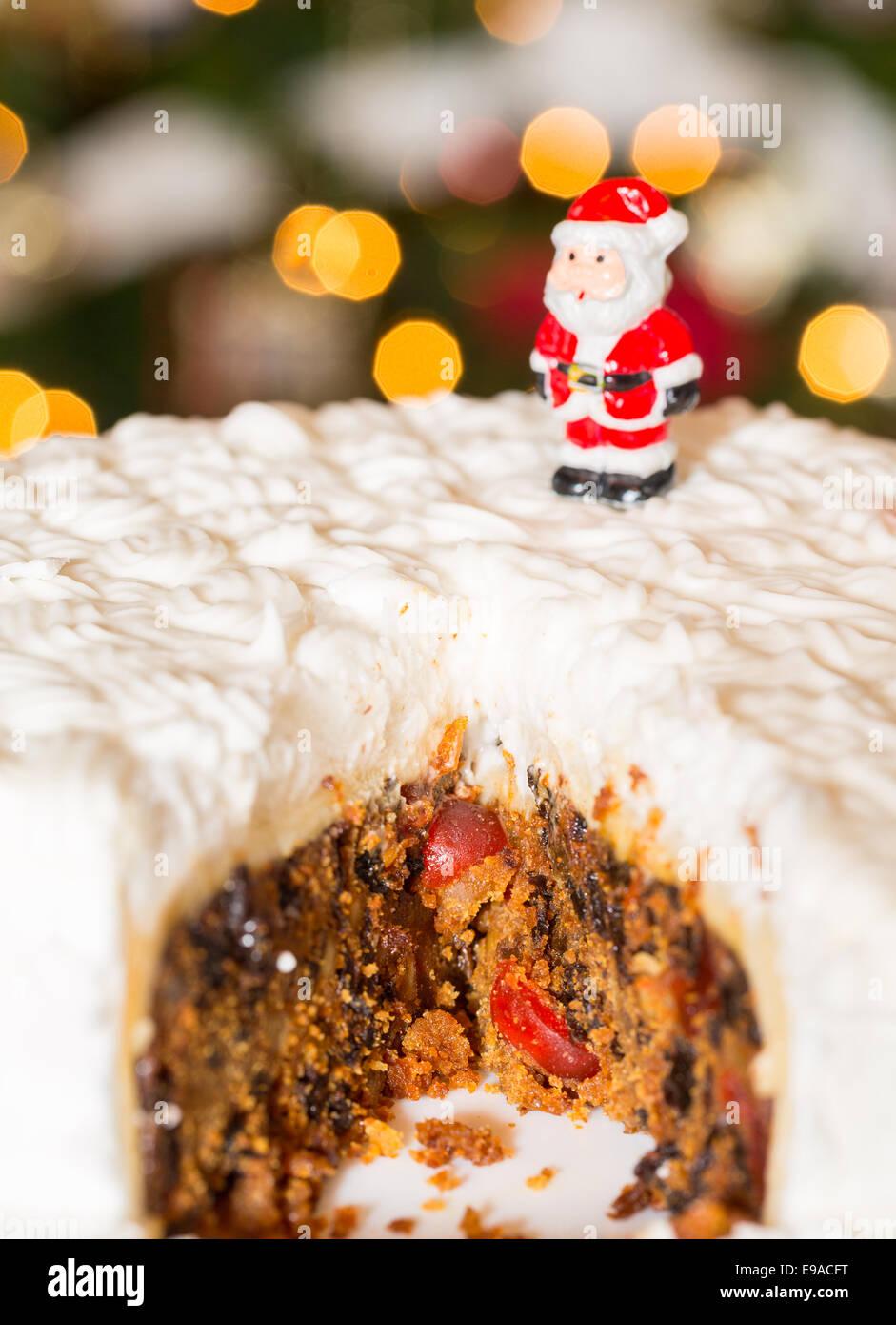 Vater Weihnachten Marzipan Kuchen Dekoration Stockfotos Vater