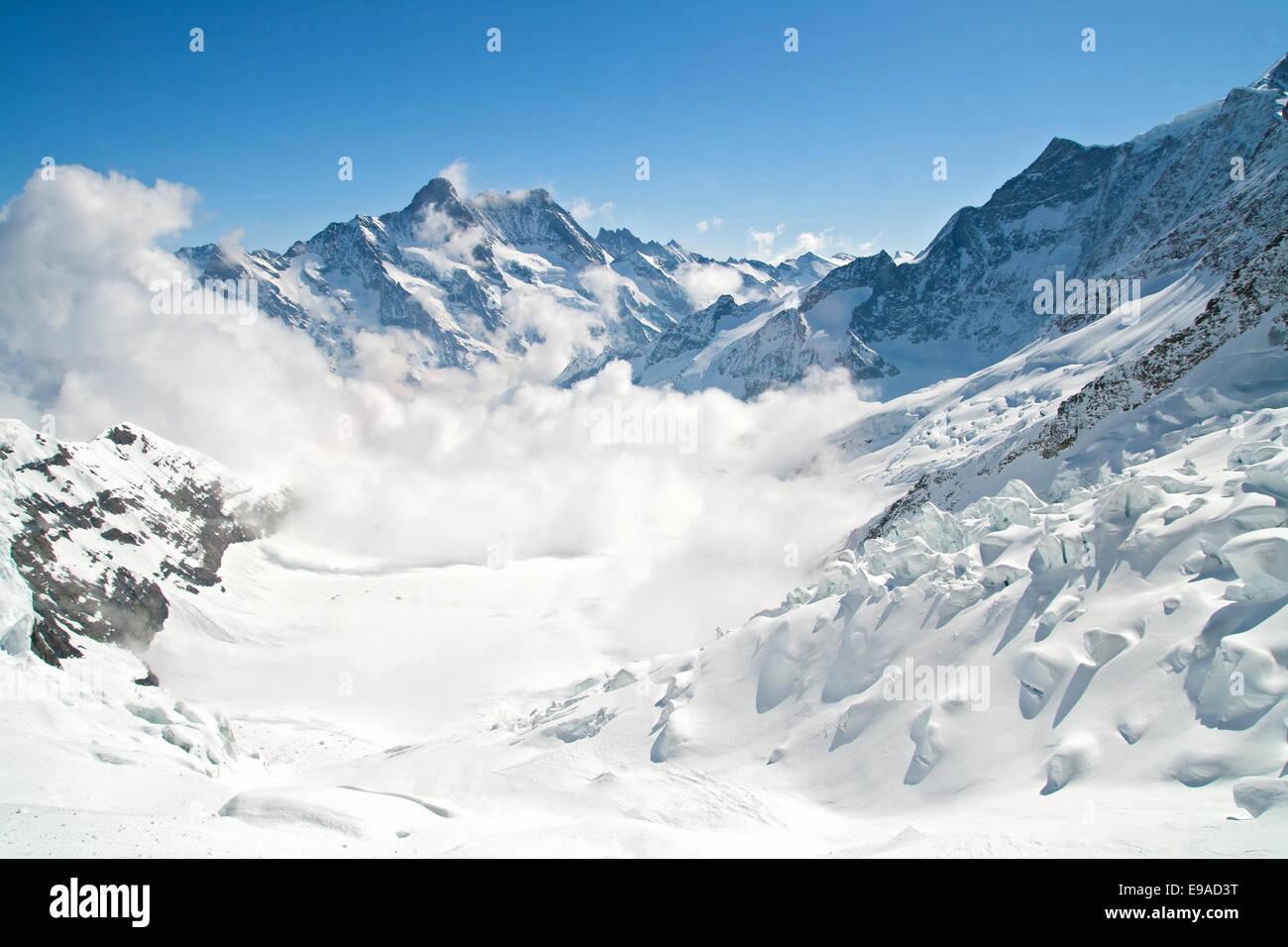 Jungfrau Bergkette in der Schweiz Stockbild
