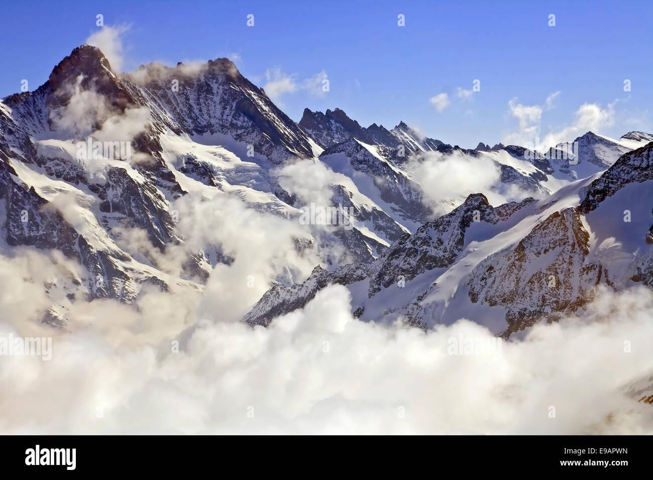 Schweizer Alpen Jungfraujoch Stockbild