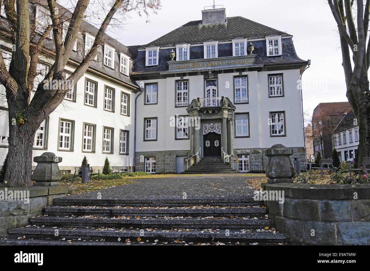 Rathaus Beckum Deutschland Stockfoto Bild Alamy