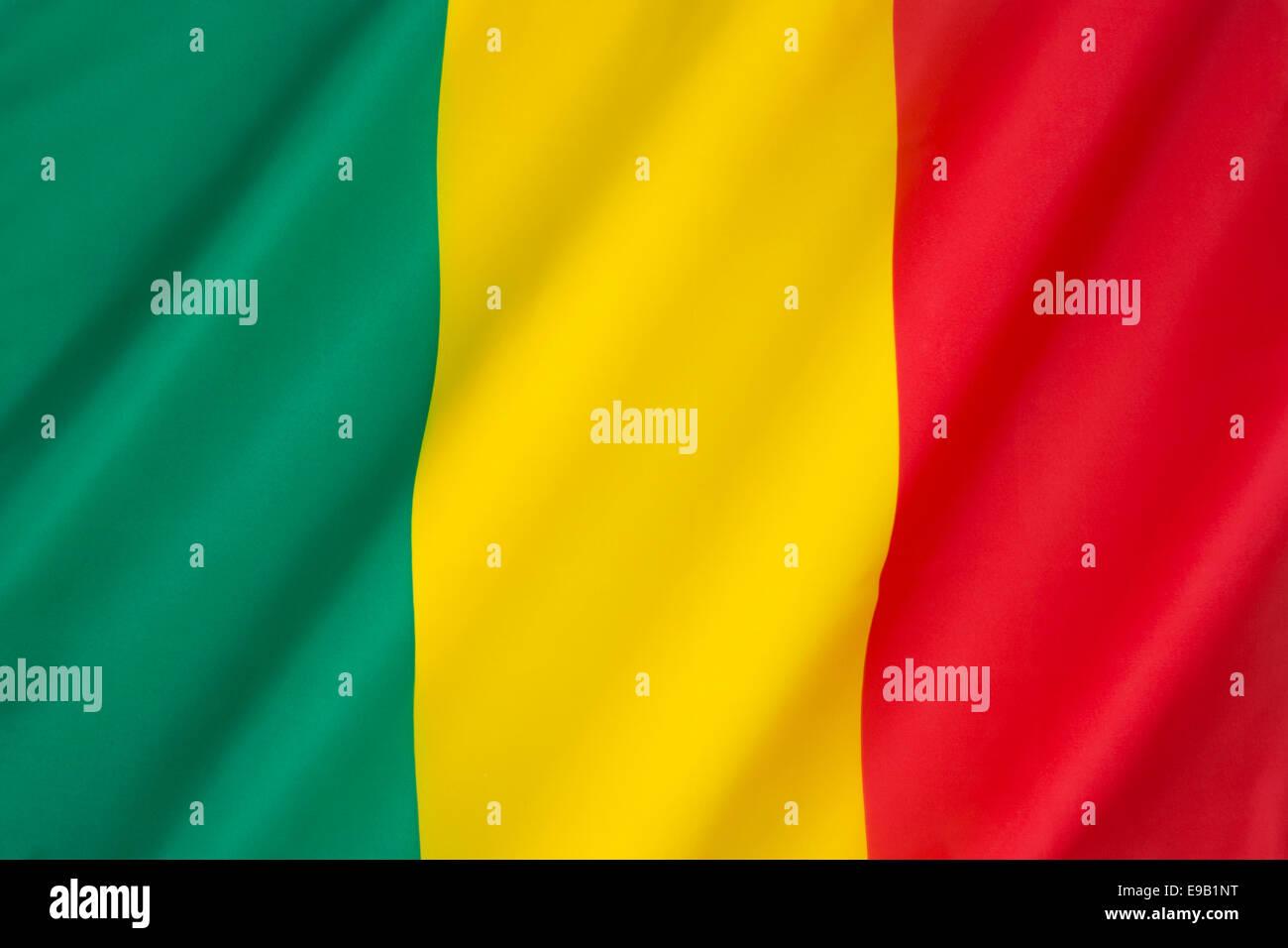Flagge von Mali Stockbild