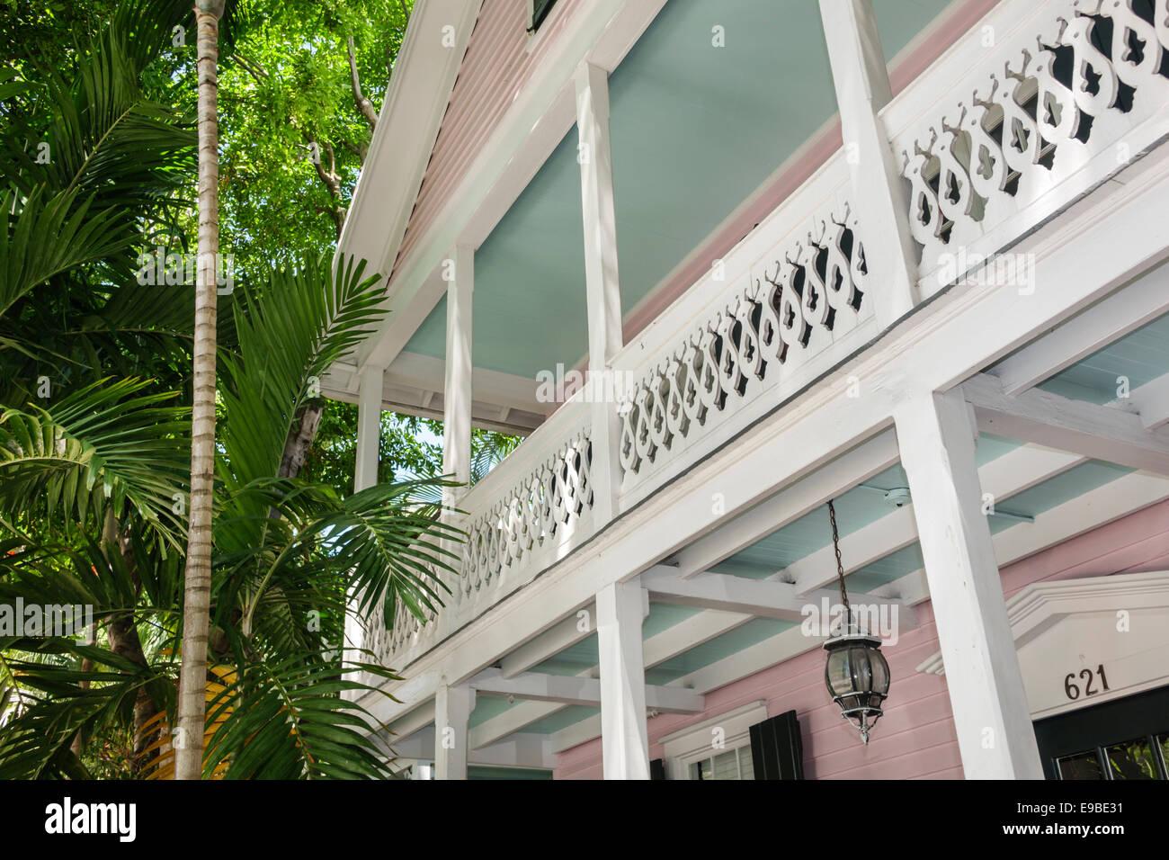 Florida Key West Caroline Street Haus Haus Balkon Holz Trim
