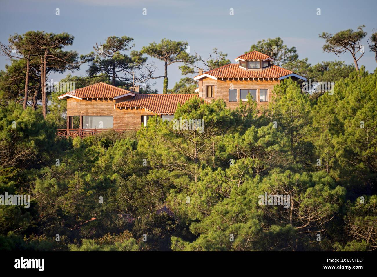 In Hossegor (Frankreich), hölzerner Rahmen Villa und maritimen ...
