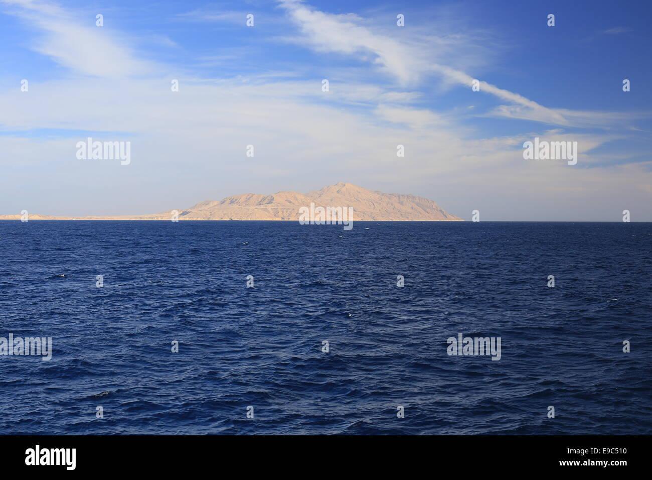 Tiran Insel, Re? Meer Stockbild