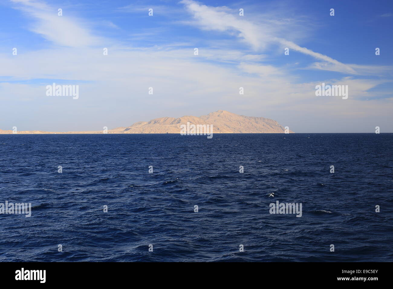 Insel Tiran, Rotes Meer Stockbild
