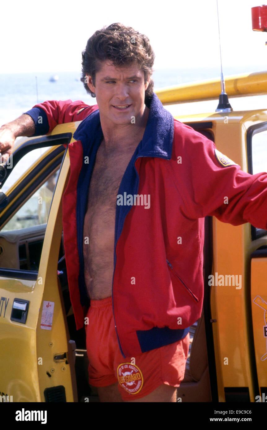 David Hasselhoff von Bay Watch ca. 1990er Jahre Stockbild