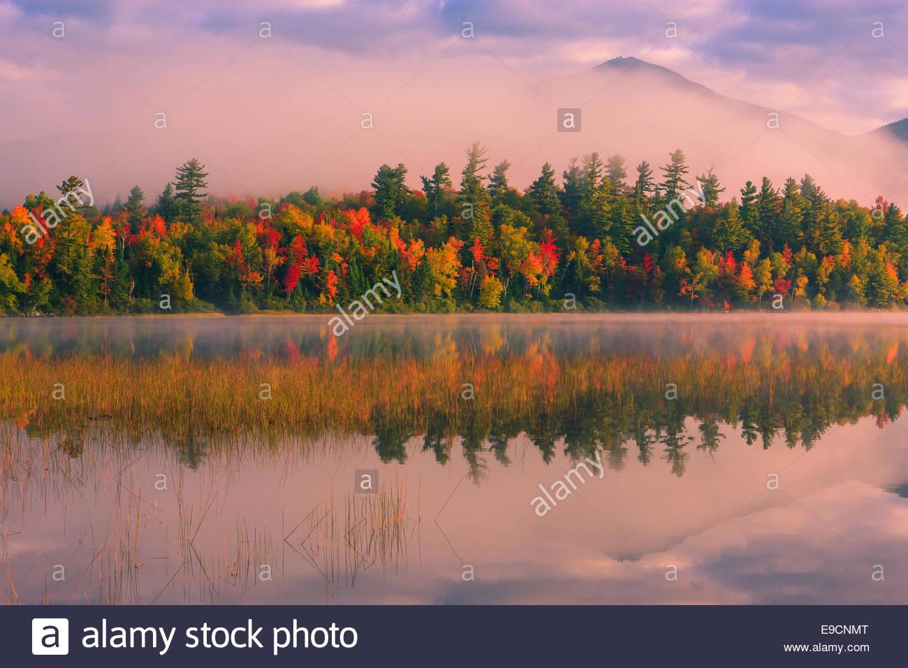 Connery Teich im Adirondack State Park in der Nähe von Lake Placid im nördlichen Teil des New York State, Stockbild