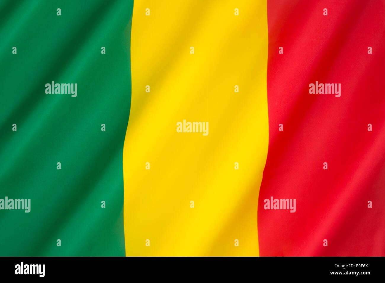 Die Nationalflagge von Mali Stockbild