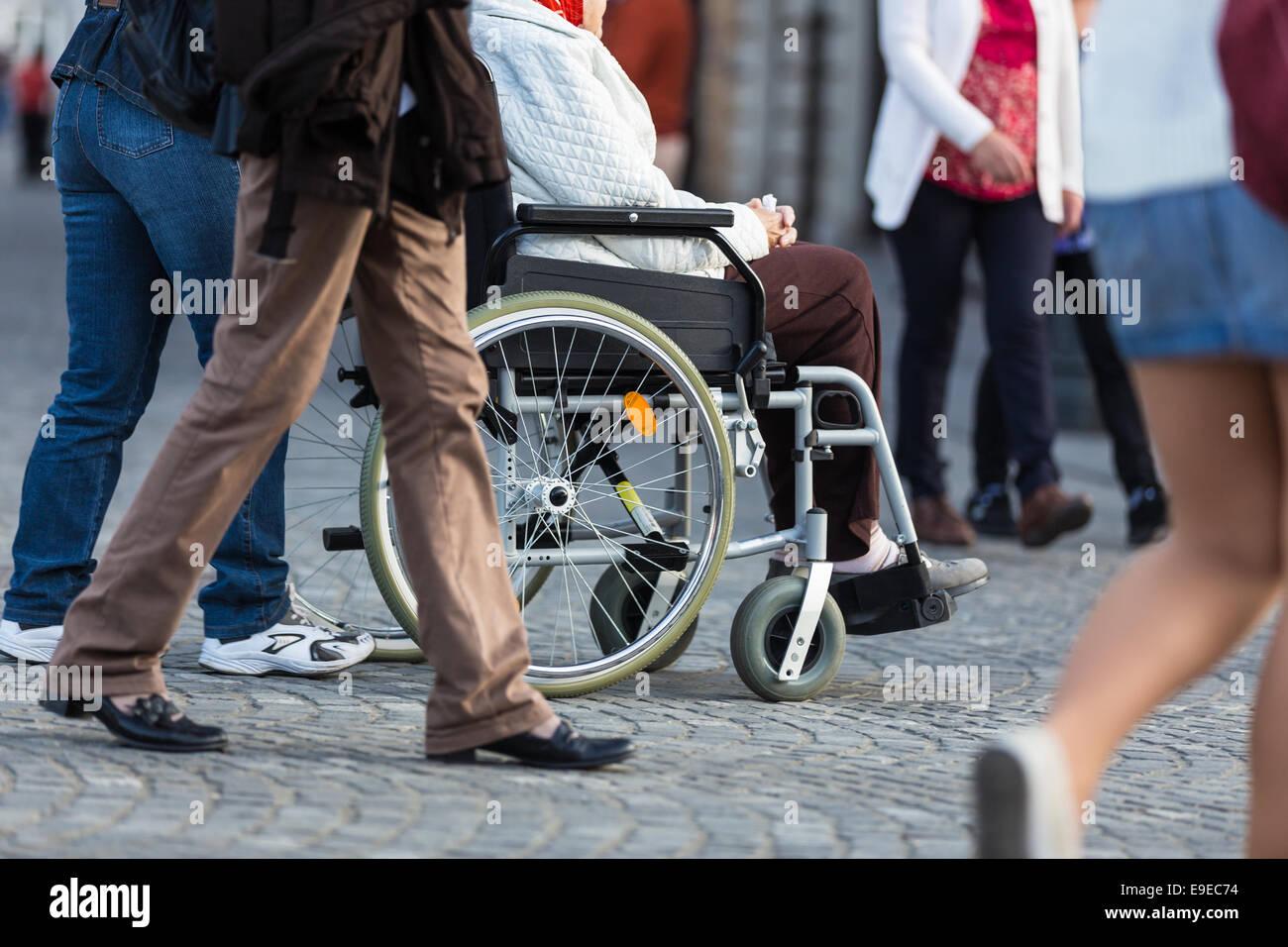 Behinderung. Stockbild