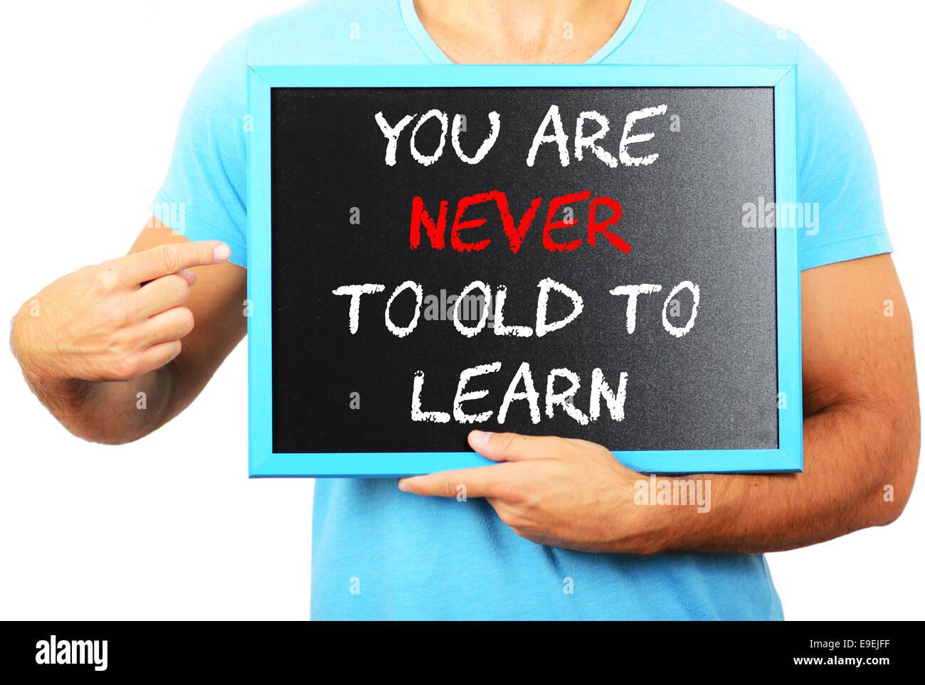 Niemals Zu Alt Zum Lernen Stockfotos Niemals Zu Alt Zum Lernen