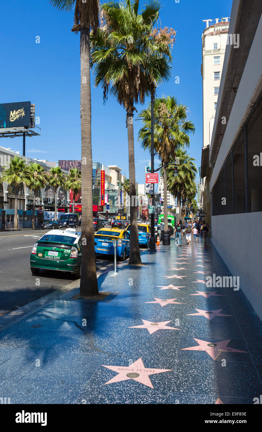 Sterne auf dem Hollywood Walk of Fame, Hollywood Boulevard ...