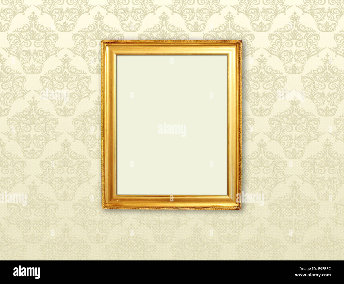 Goldrahmen auf Retro-Hintergrund Stockbild