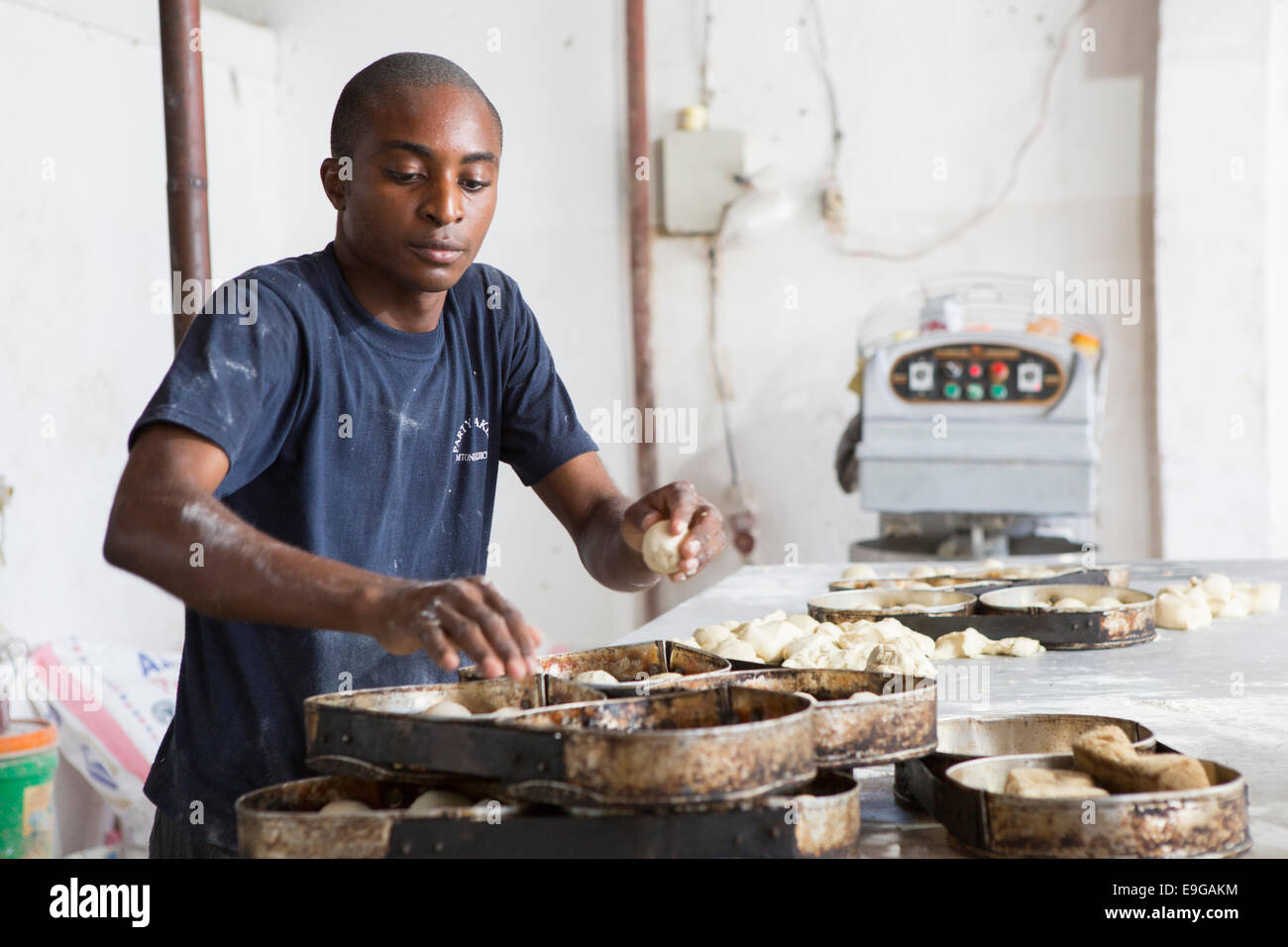 Kommerziellen Bäckerei in Dar Es Salaam, Tansania, Ostafrika. Stockbild