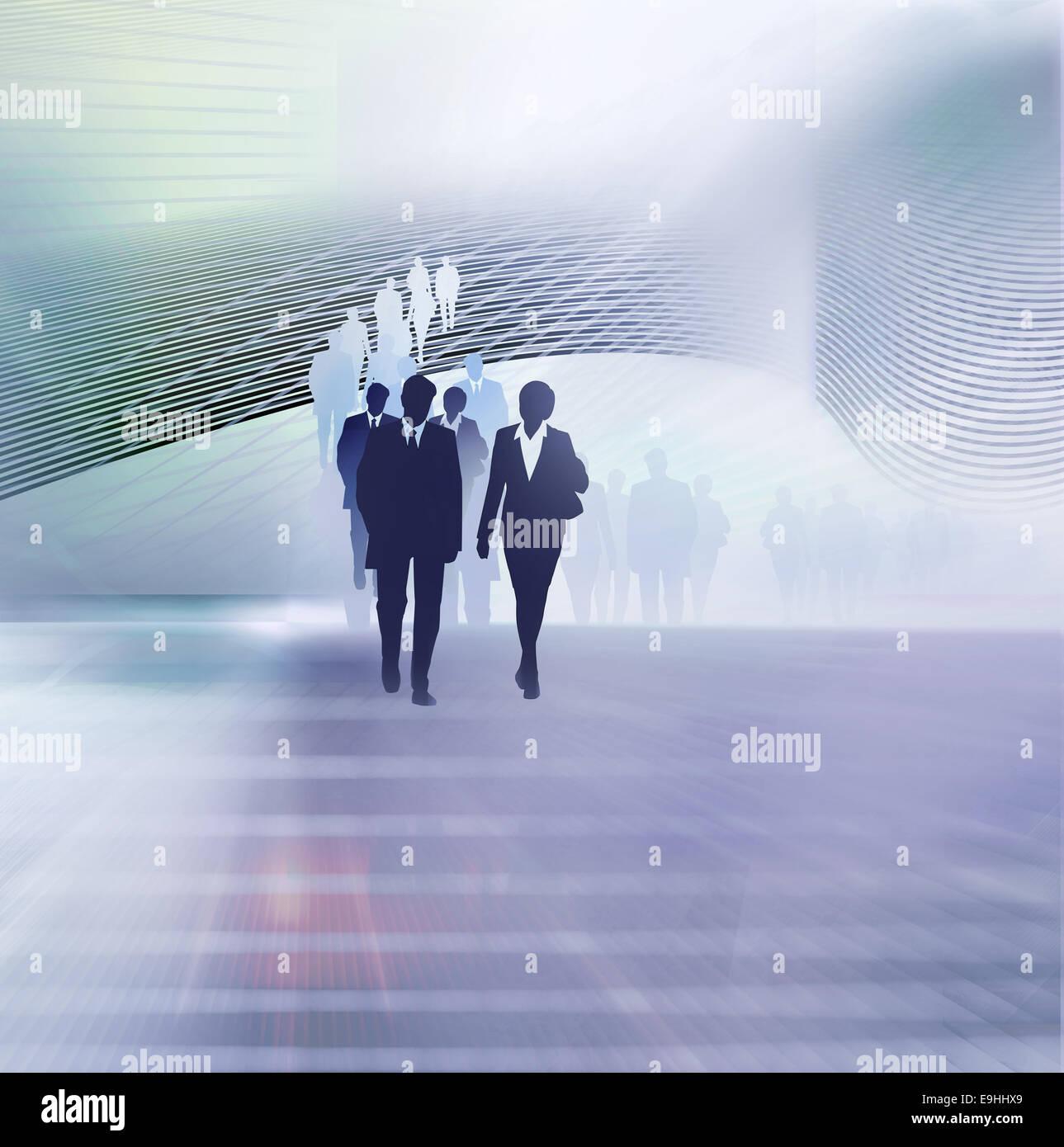 Menschen Unternehmen Abbildung Stockbild