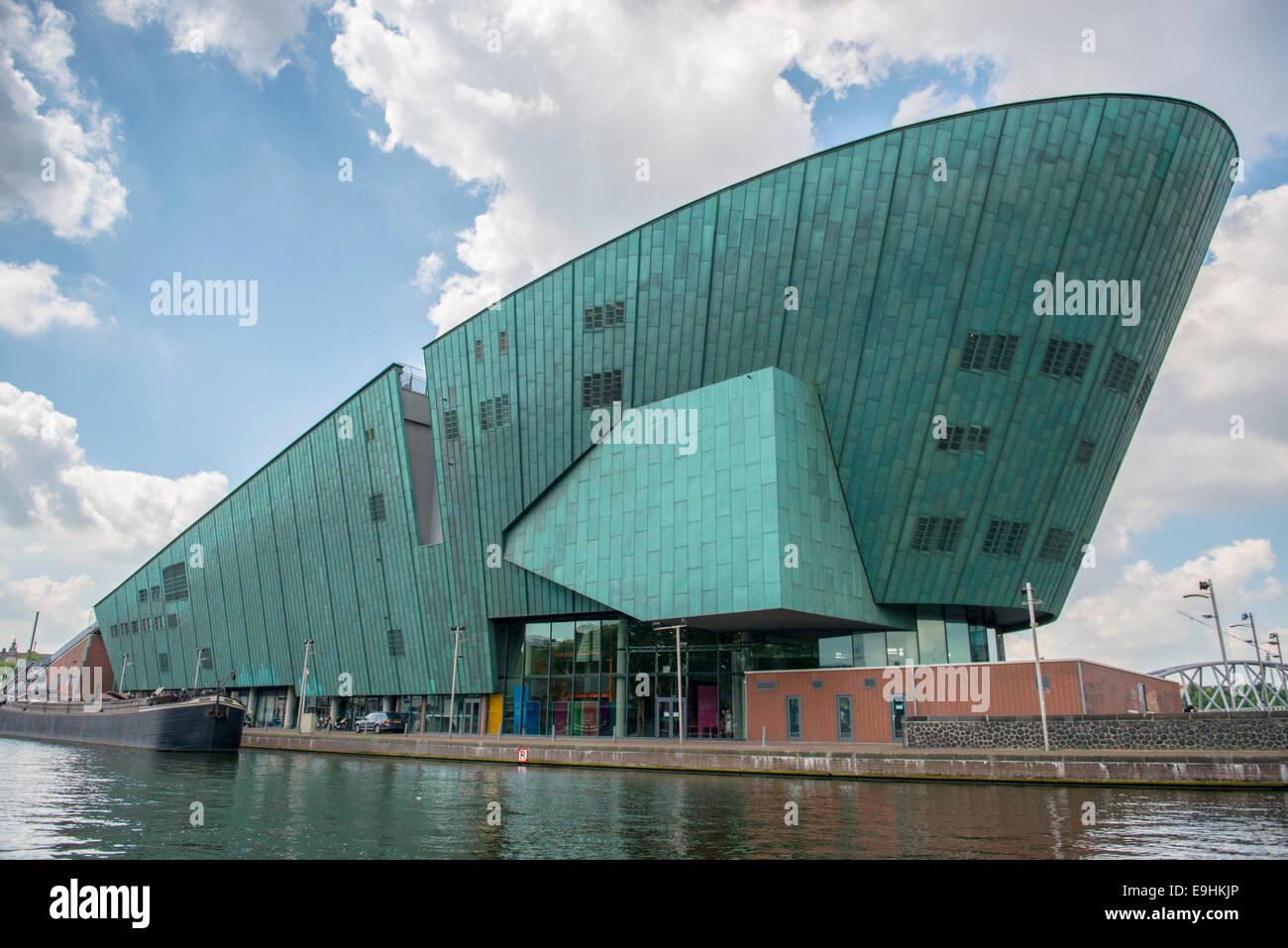 Wissenschaftsmuseum Nemo, die neue Metropole Amsterdam, Niederlande Stockbild