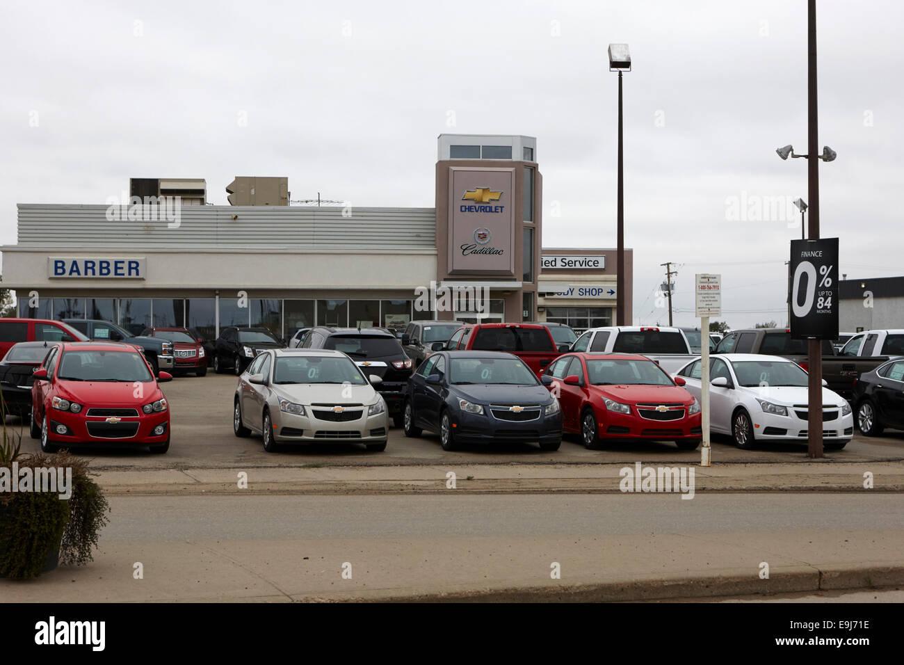 Chevrolet und Cadillac neue Auto Händler Weyburn Saskatchewan Kanada Stockbild