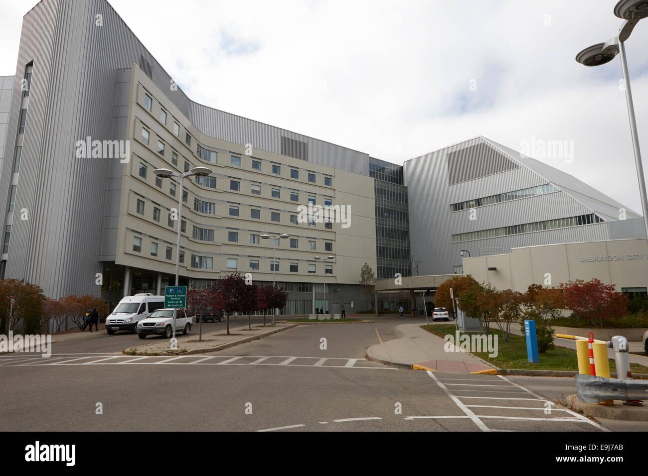 Stadtkrankenhaus Saskatoon Saskatchewan Kanada Stockbild
