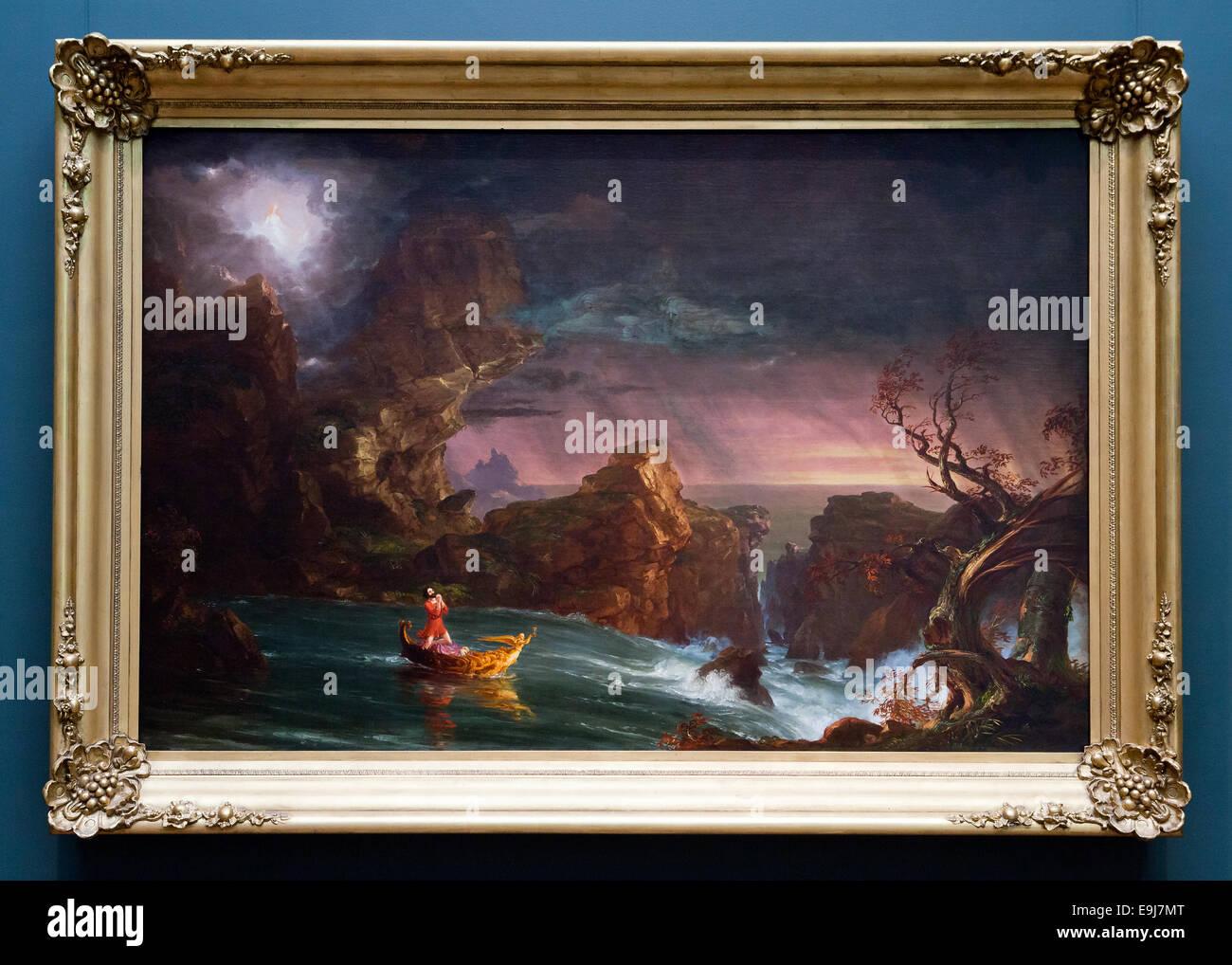 Die Reise des Lebens von Thomas Cole, 1842 Stockbild