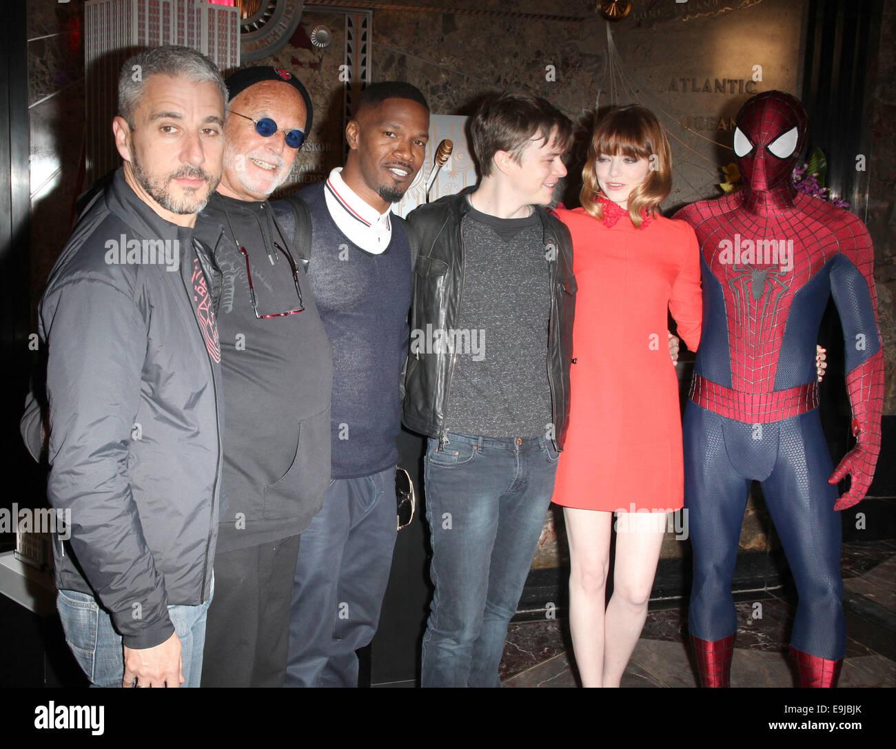 """die besetzung von """"the amazing spider-man 2"""" empire state building"""