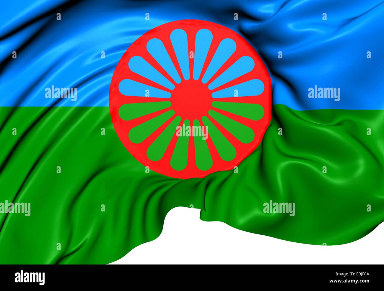 Roma-Flagge Stockfoto, Bild: 74780282 - Alamy
