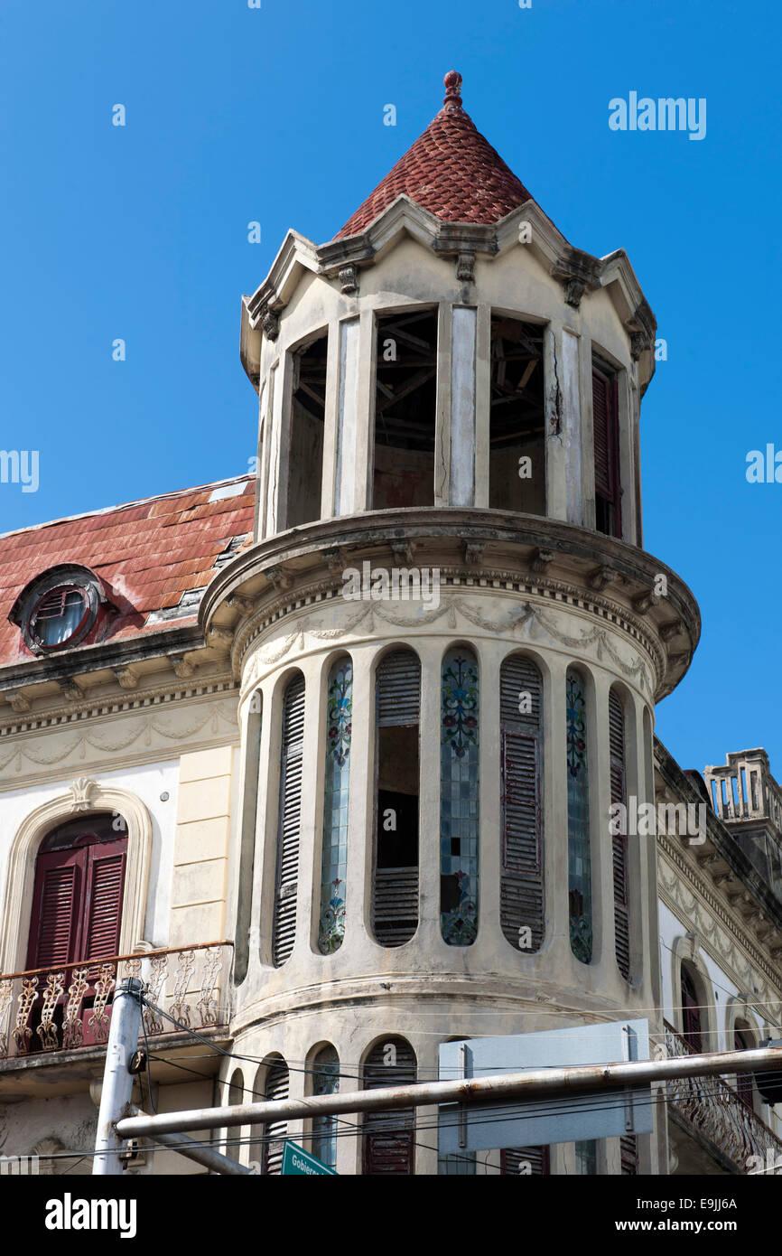 Dominikanische Republik, Osten, San Pedro de Macoris, edificio Morey. Das viktorianische Gebäude aus dem Jahr Stockbild