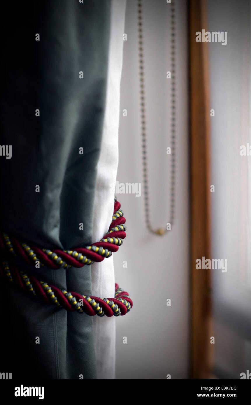 Vorhang-Krawatten Stockbild