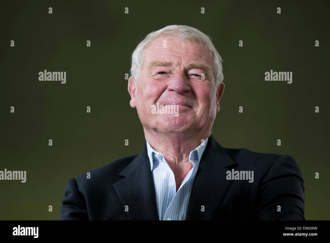 Britischer Politiker und Diplomat Baron Ashdown, normalerweise bekannt als Paddy Ashdown beim Edinburgh Book Festival. Stockbild