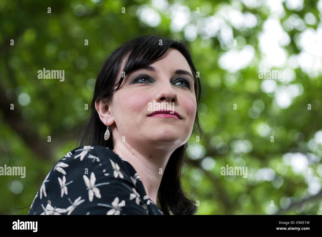Der britische Autor Michelle Harrison erscheint das Edinburgh International Book Festival. Stockbild